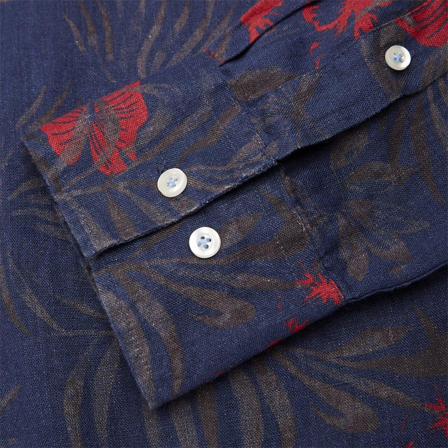 04643 SUMMER PRINT LINEN SHIRT - Summer Print Linen Shirt - Skjorter - Casual fit - NAVY - 3