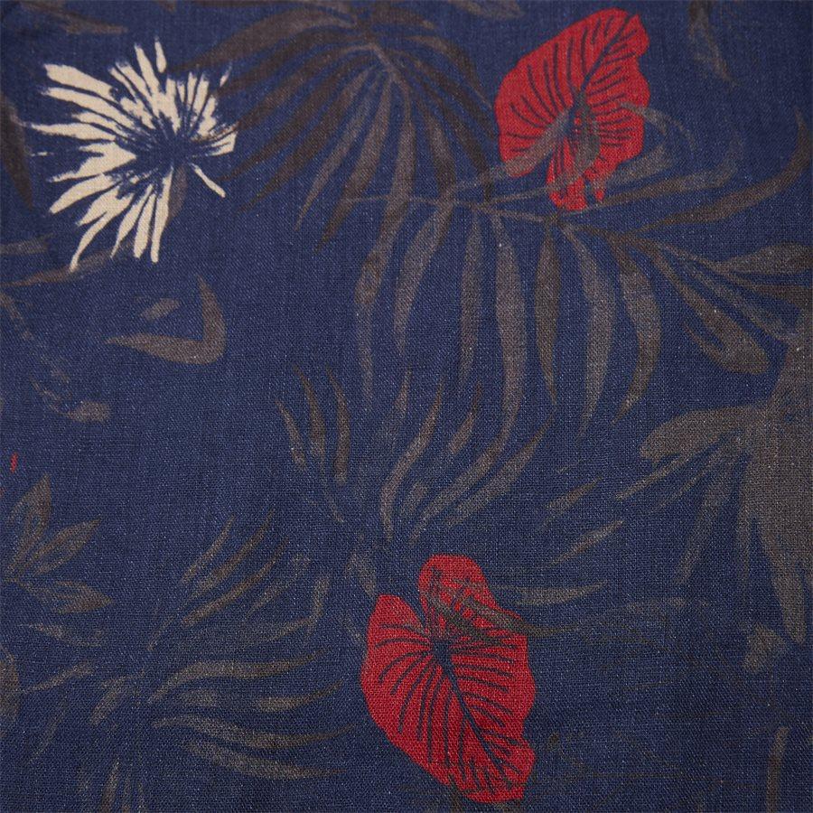 04643 SUMMER PRINT LINEN SHIRT - Summer Print Linen Shirt - Skjorter - Casual fit - NAVY - 4
