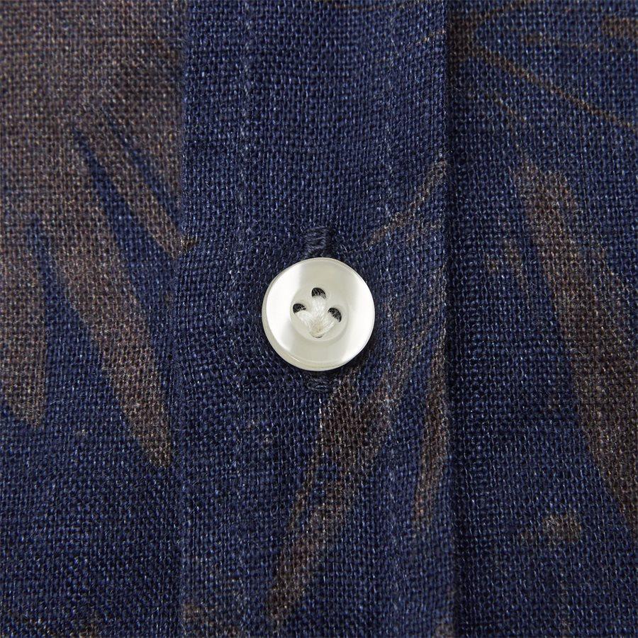 04643 SUMMER PRINT LINEN SHIRT - Summer Print Linen Shirt - Skjorter - Casual fit - NAVY - 5