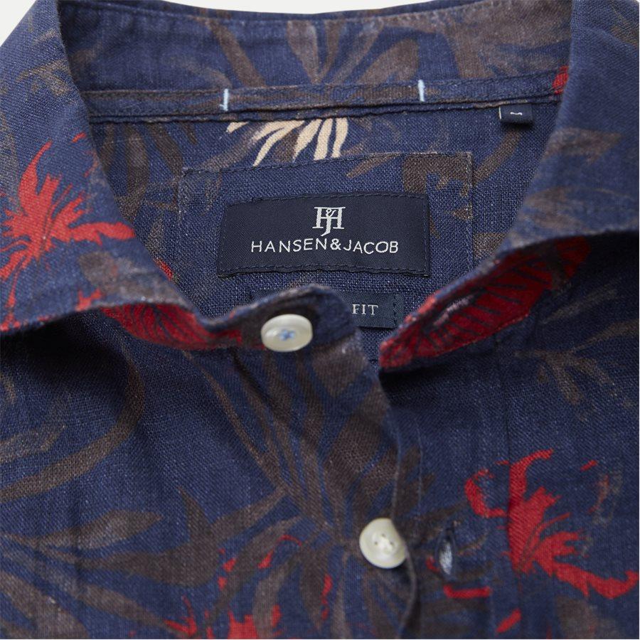 04643 SUMMER PRINT LINEN SHIRT - Summer Print Linen Shirt - Skjorter - Casual fit - NAVY - 6