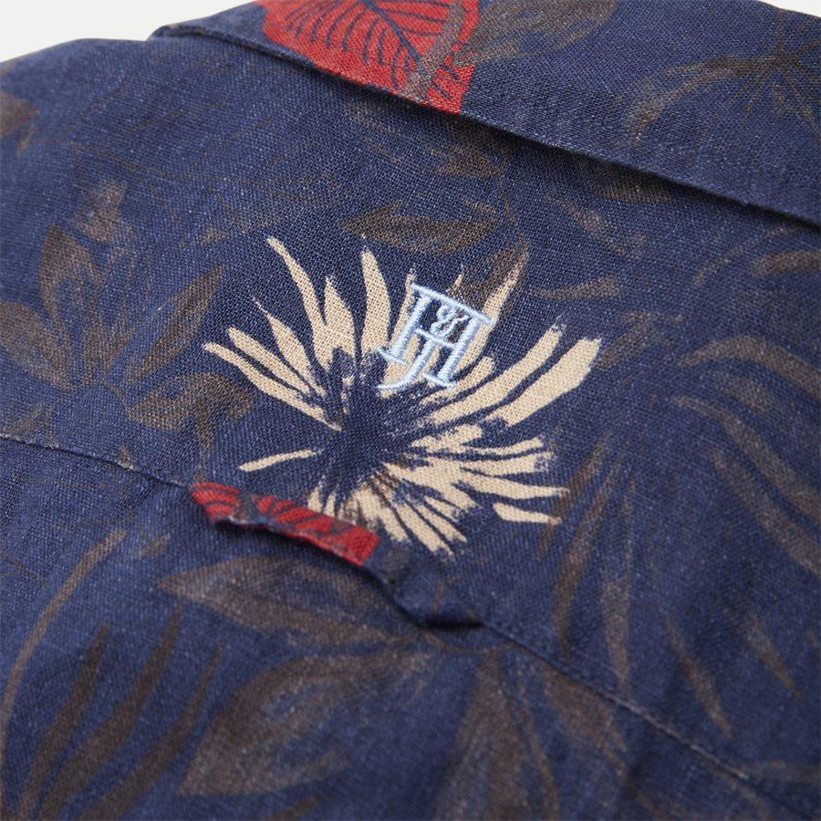 04643 SUMMER PRINT LINEN SHIRT - Summer Print Linen Shirt - Skjorter - Casual fit - NAVY - 7