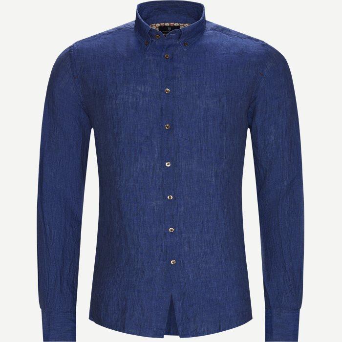 Shirt Linen Delave - Skjorter - Casual fit - Blå