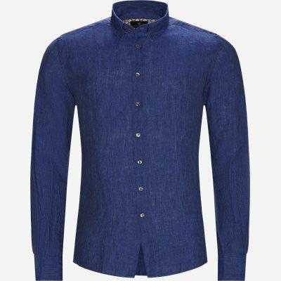 Shirt Linen Delave Casual fit | Shirt Linen Delave | Blå