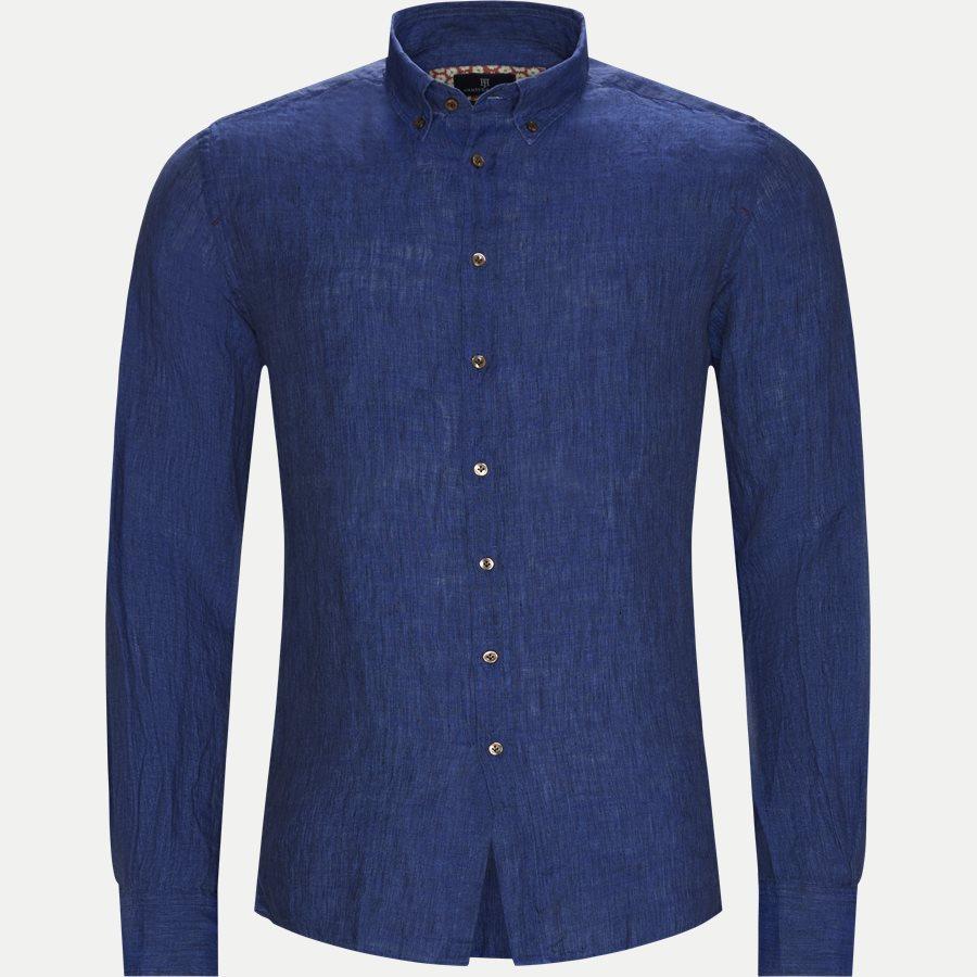 04638 SHIRT, LINEN DELAVE - Shirt Linen Delave - Skjorter - Casual fit - BLÅ - 1