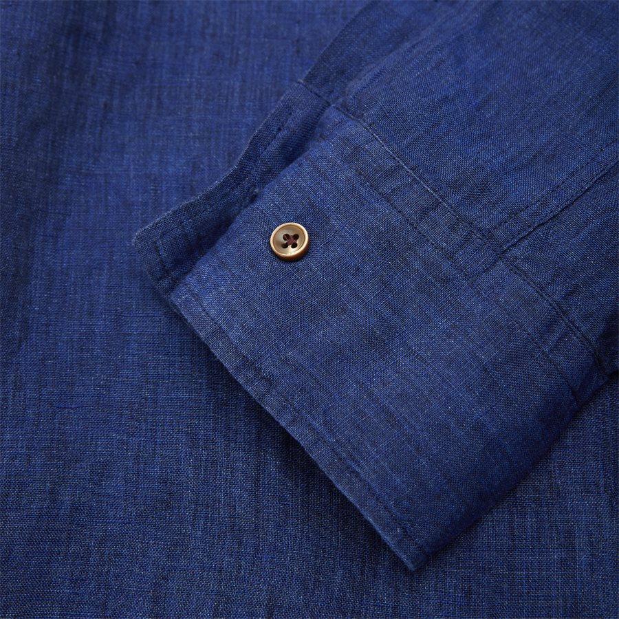 04638 SHIRT, LINEN DELAVE - Shirt Linen Delave - Skjorter - Casual fit - BLÅ - 4