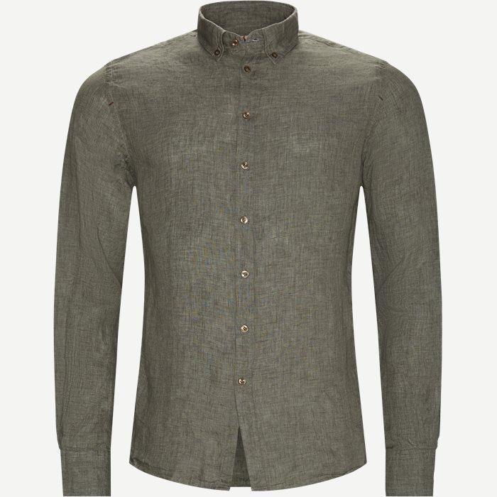 Shirt Linen Delave - Skjorter - Casual fit - Grøn