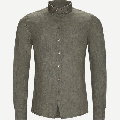 Shirt Linen Delave Casual fit | Shirt Linen Delave | Grøn