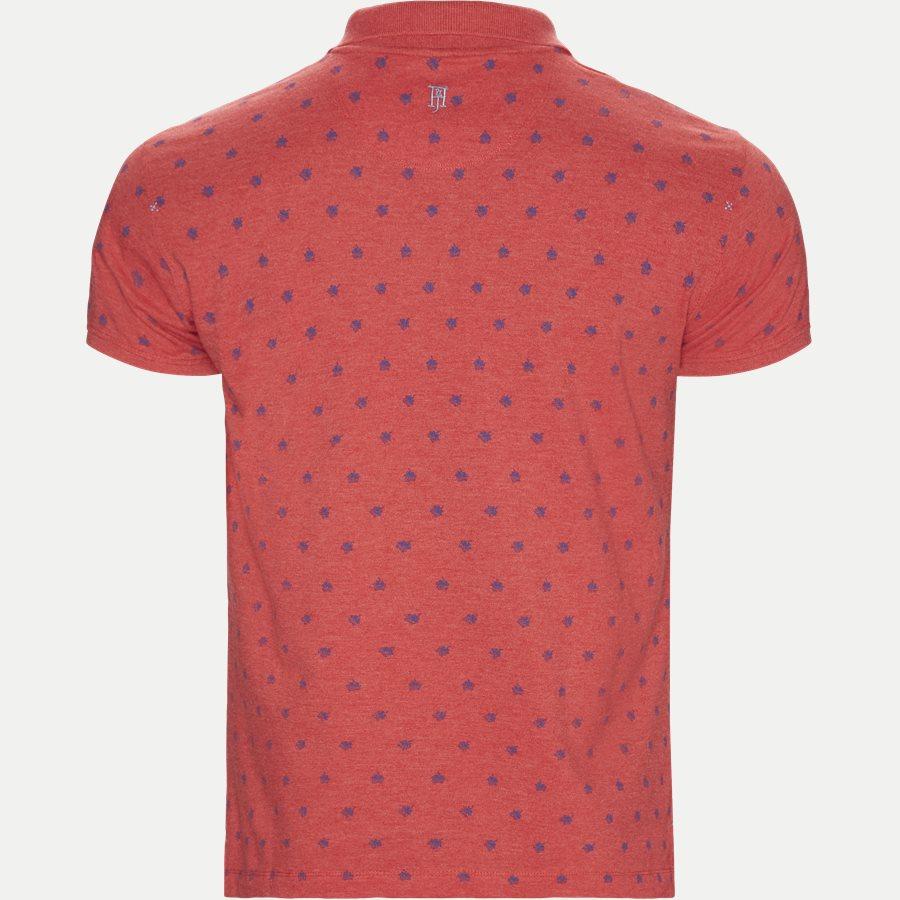 04671 LEAF PRINT POLO - Leaf Print Polo T-shirt - T-shirts - Regular - RØD - 2