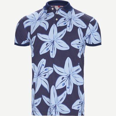 Big Flower Polo T-shirt Regular | Big Flower Polo T-shirt | Blå