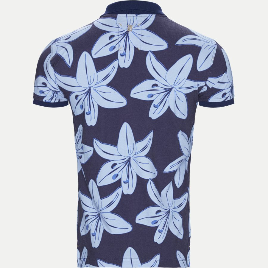 04686 BIG FLOWER POLO - Big Flower Polo T-shirt - T-shirts - Regular - NAVY - 2