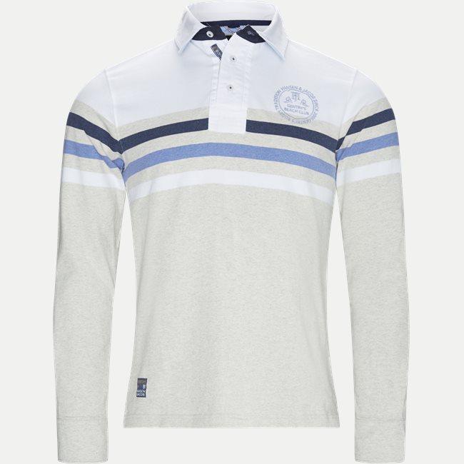 Chest Stripe Rugger Langærmet Polo T-shirt