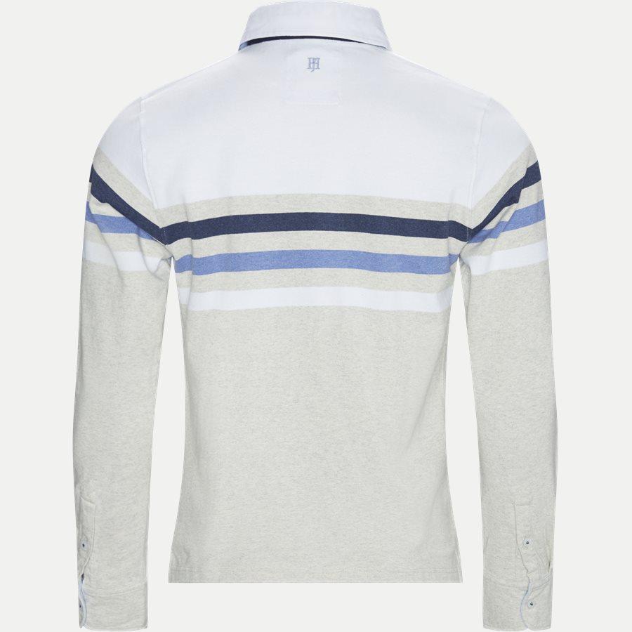 04677 CHEST STRIPE RUGGER - Chest Stripe Rugger Langærmet Polo T-shirt - T-shirts - Modern fit - HVID - 2