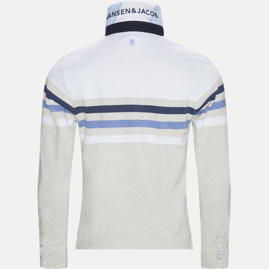 04677 CHEST STRIPE RUGGER - Chest Stripe Rugger Langærmet Polo T-shirt - T-shirts - Modern fit - HVID - 3