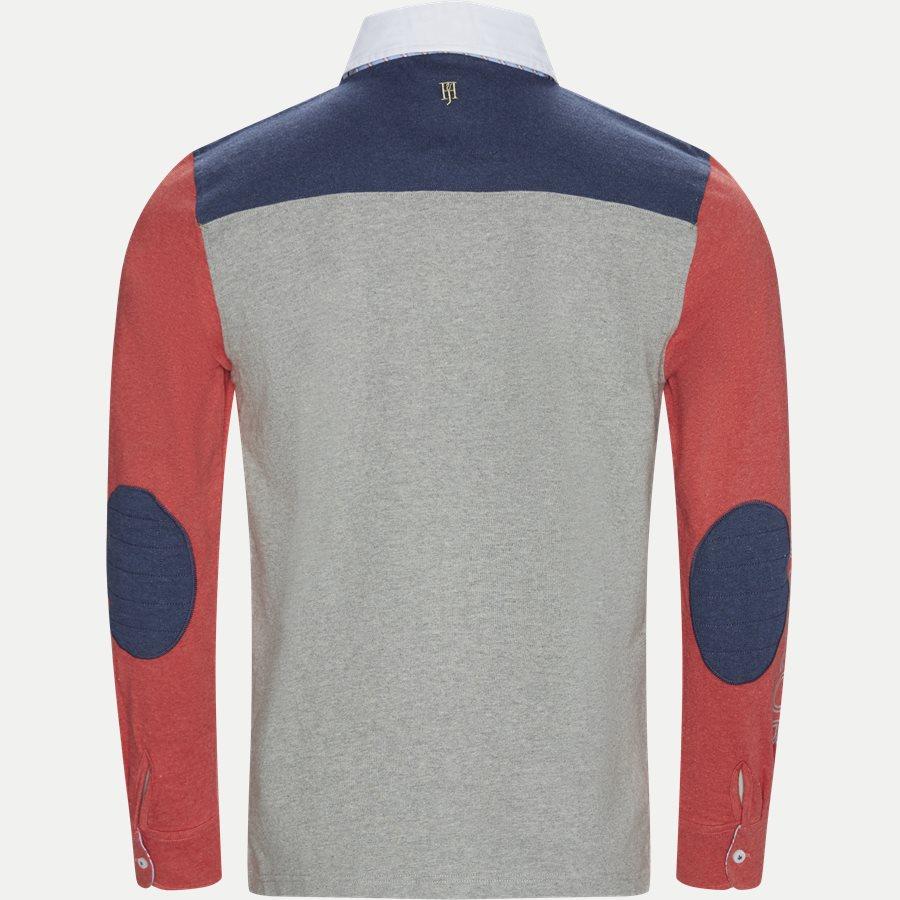 04683 PATCHWORK RUGGER - Patchwork Rugger Langærmet Polo T-shirt - T-shirts - Modern fit - GRÅ - 2