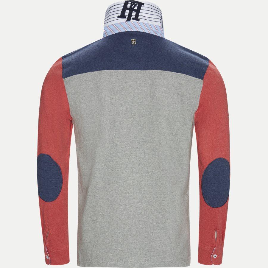 04683 PATCHWORK RUGGER - Patchwork Rugger Langærmet Polo T-shirt - T-shirts - Modern fit - GRÅ - 3