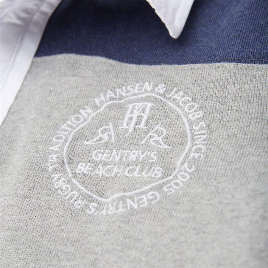 04683 PATCHWORK RUGGER - Patchwork Rugger Langærmet Polo T-shirt - T-shirts - Modern fit - GRÅ - 6