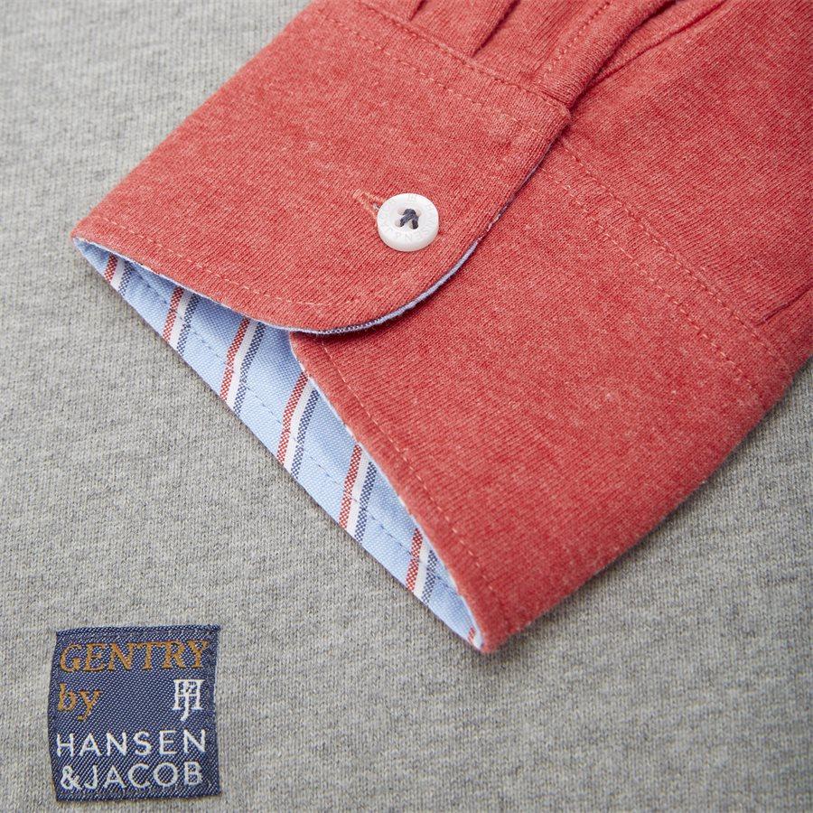 04683 PATCHWORK RUGGER - Patchwork Rugger Langærmet Polo T-shirt - T-shirts - Modern fit - GRÅ - 8