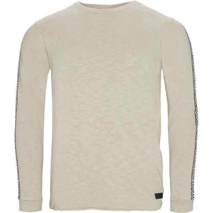 Azur Tape JJ Langærmet T-shirt - T-shirts - Regular - Sand