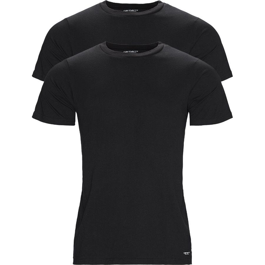STANDARD 2 PACK I020460 - 2-Pack T-shirts - T-shirts - Regular - BLACK/BLACK - 1