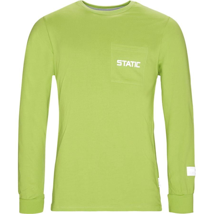 KASAN - Kasan LS Pocket Tee - T-shirts - Regular - NEON/GRØN - 1