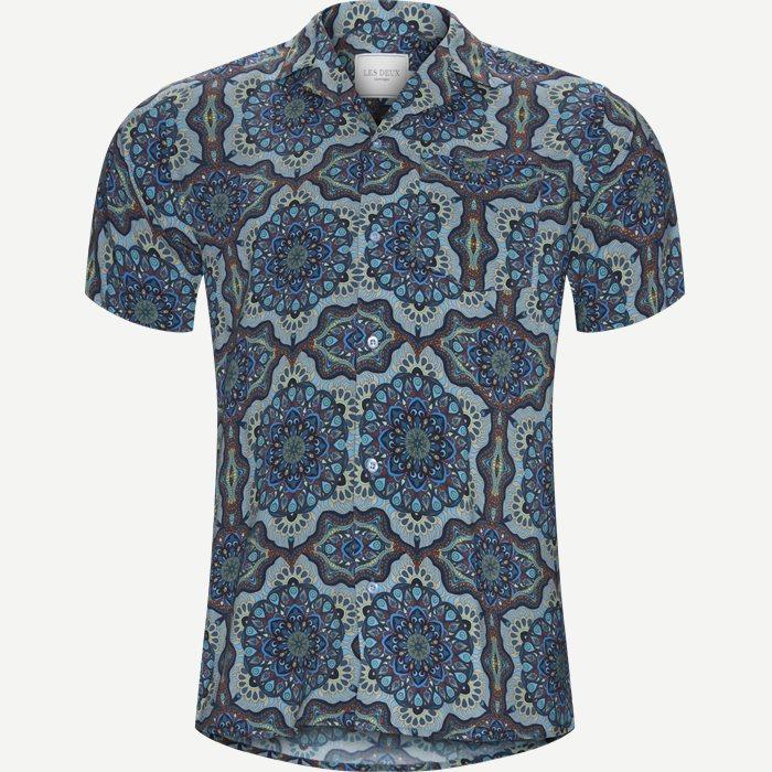 Psychedelic Shirt - Kortærmede skjorter - Slim - Blå