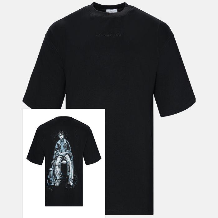 T-shirts - Oversized - Sort