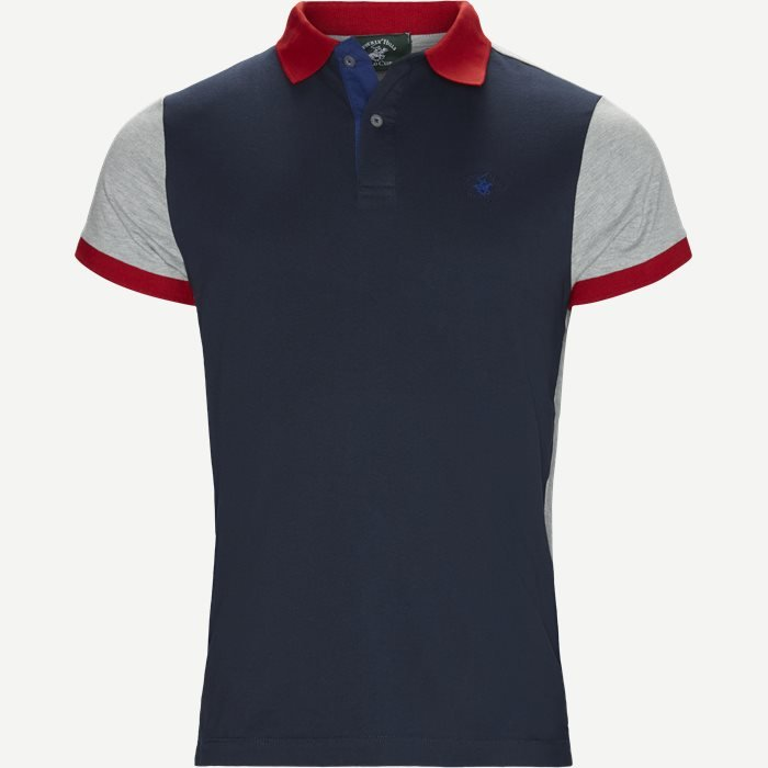 Maglia Polo Piquet - T-shirts - Regular - Blå