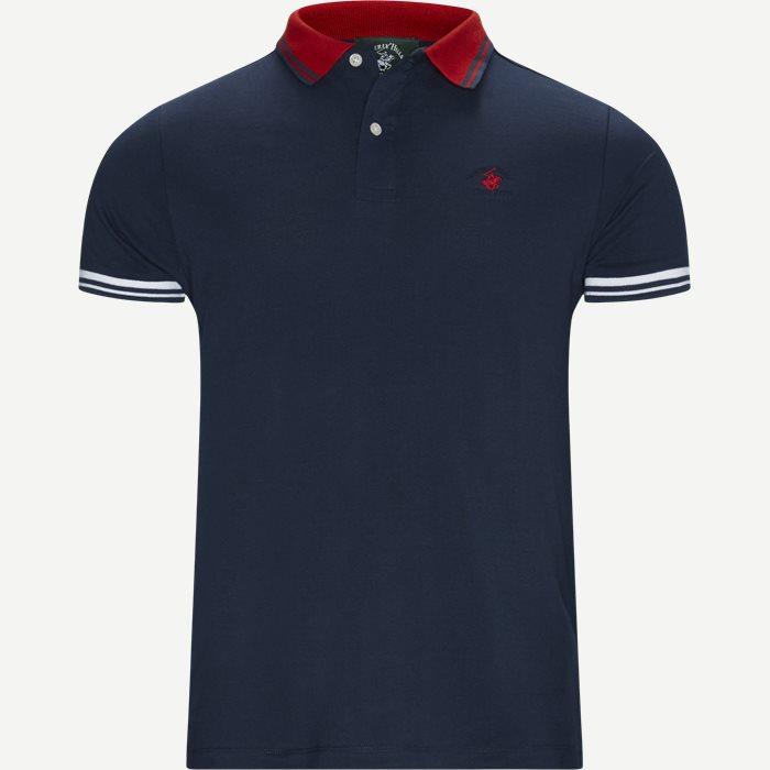 Maglia Polo Piquet T-shirt - T-shirts - Regular - Blå