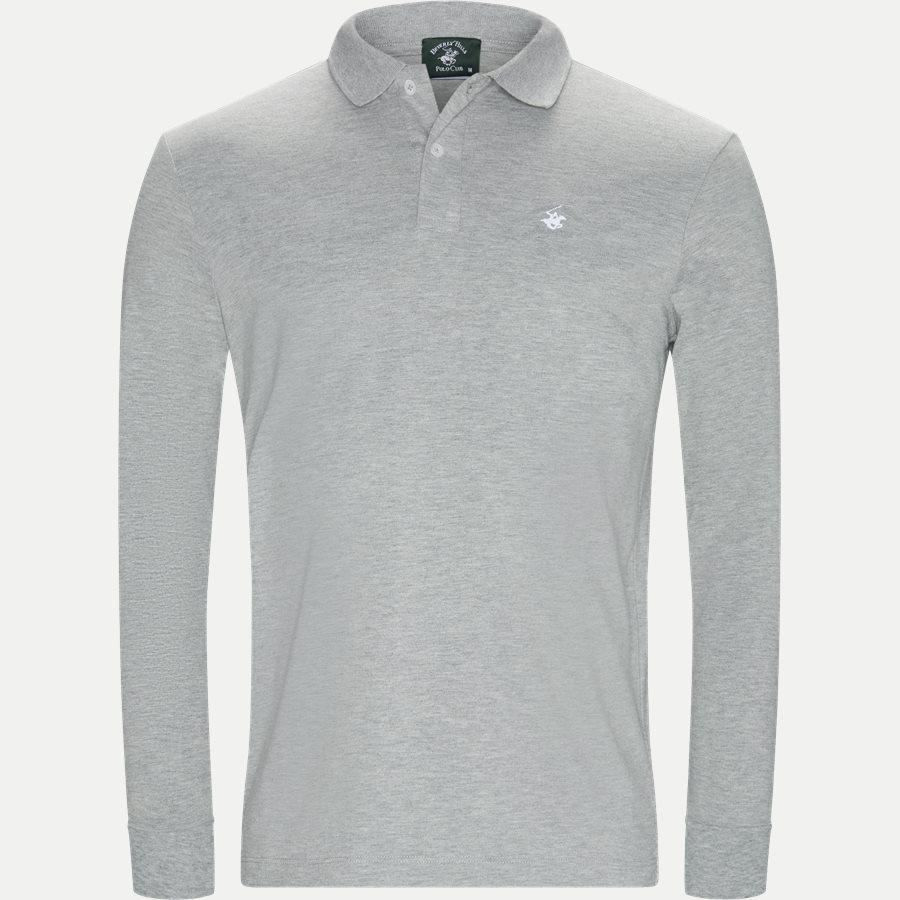 BHPC5258 POLO LS - Maglia Polo Piquet - T-shirts - Regular - GRÅ - 1