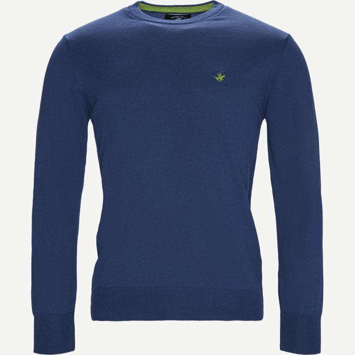 Pullover Striktrøje - Strik - Regular - Denim