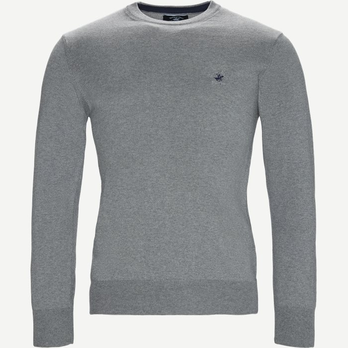 Pullover Striktrøje - Strik - Regular fit - Grå