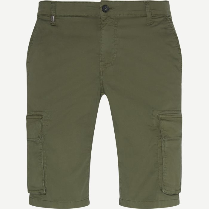 Shorts - Slim - Oliv