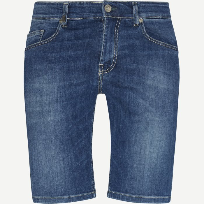 Bermuda Jeans Chino Shorts - Shorts - Slim - Blå