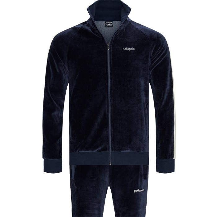 Velour Set - Tracksuits - Regular slim fit - Blå