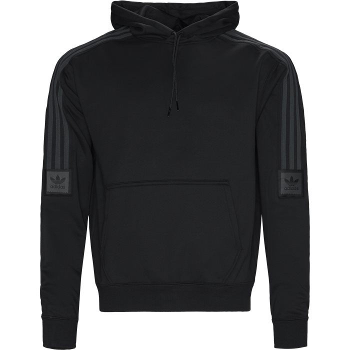 Tech Hood Sweatshirt - Sweatshirts - Regular - Sort