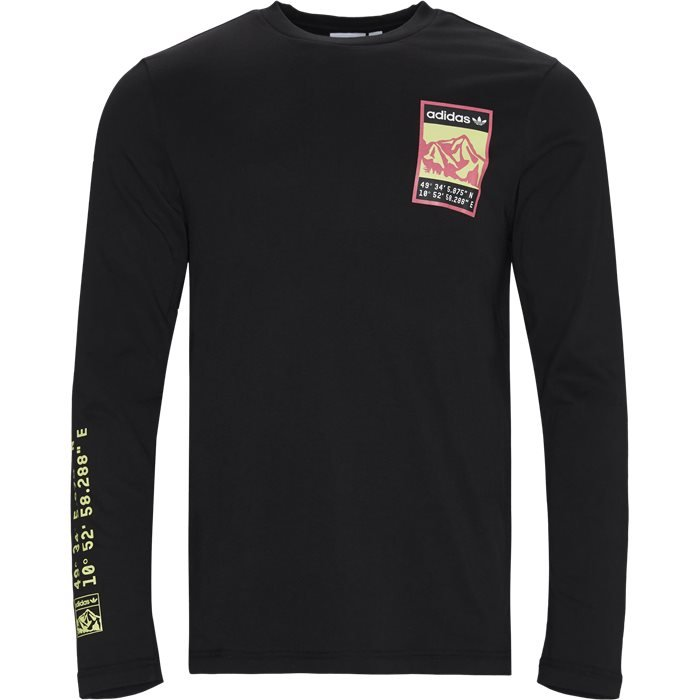 Longsleeve Tee - T-shirts - Regular - Sort