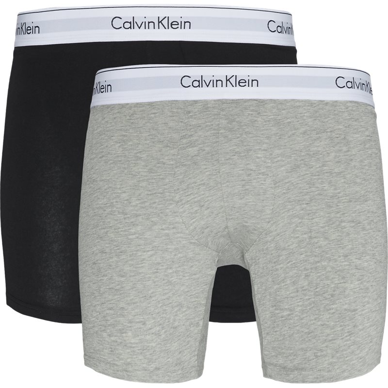 Image of   Calvin Klein 2 Pack Boxer Grå/sort