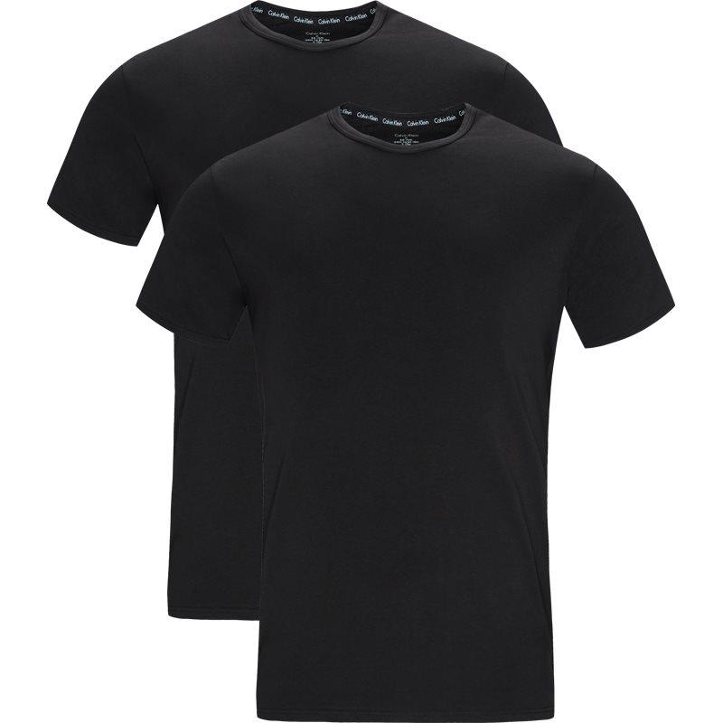 Calvin klein 2-pack o-neck t-shirts sort/sort fra calvin klein på quint.dk