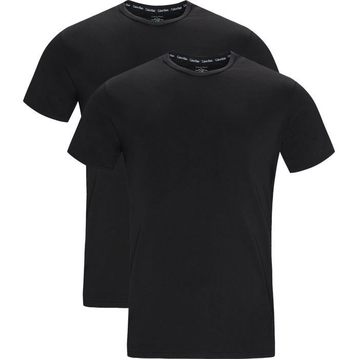 2-Pack O-Neck T-shirts - T-shirts - Modern fit - Sort