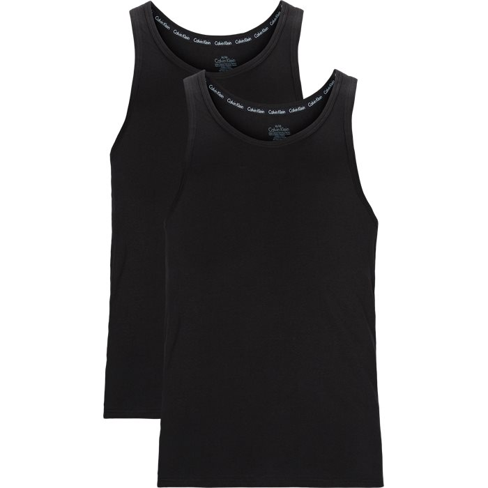 2-Pack Tanktops - T-shirts - Modern fit - Sort