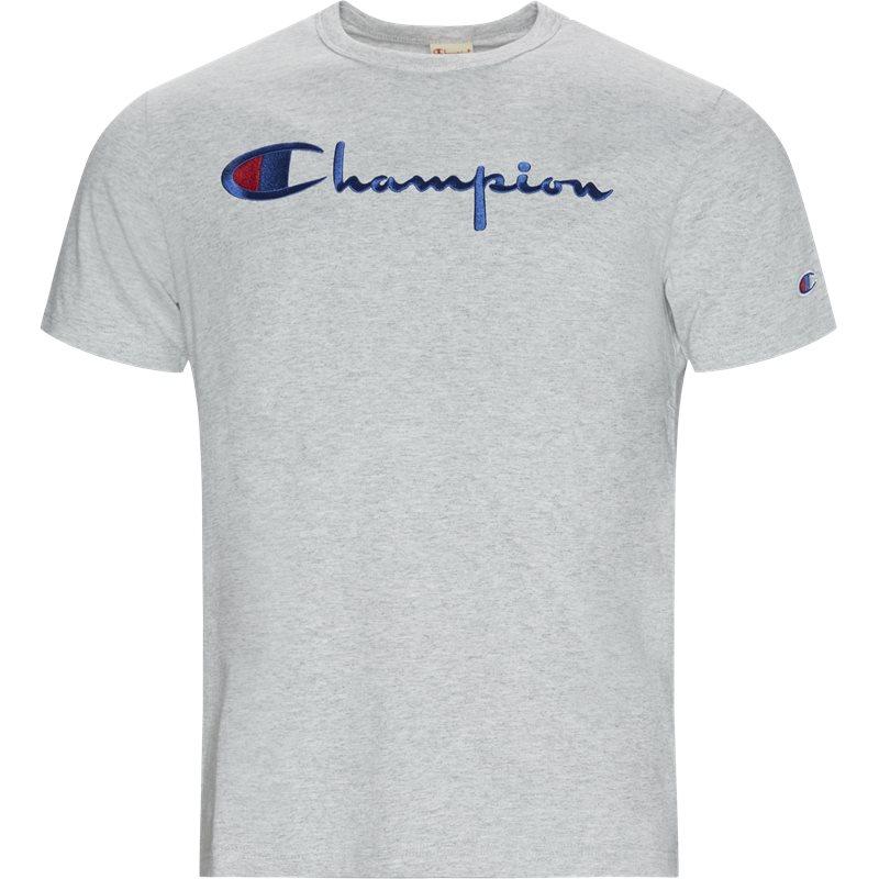 champion – Champion big script tee grå på quint.dk