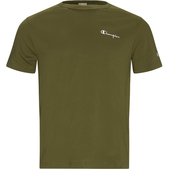 Small Script Tee - T-shirts - Regular - Army