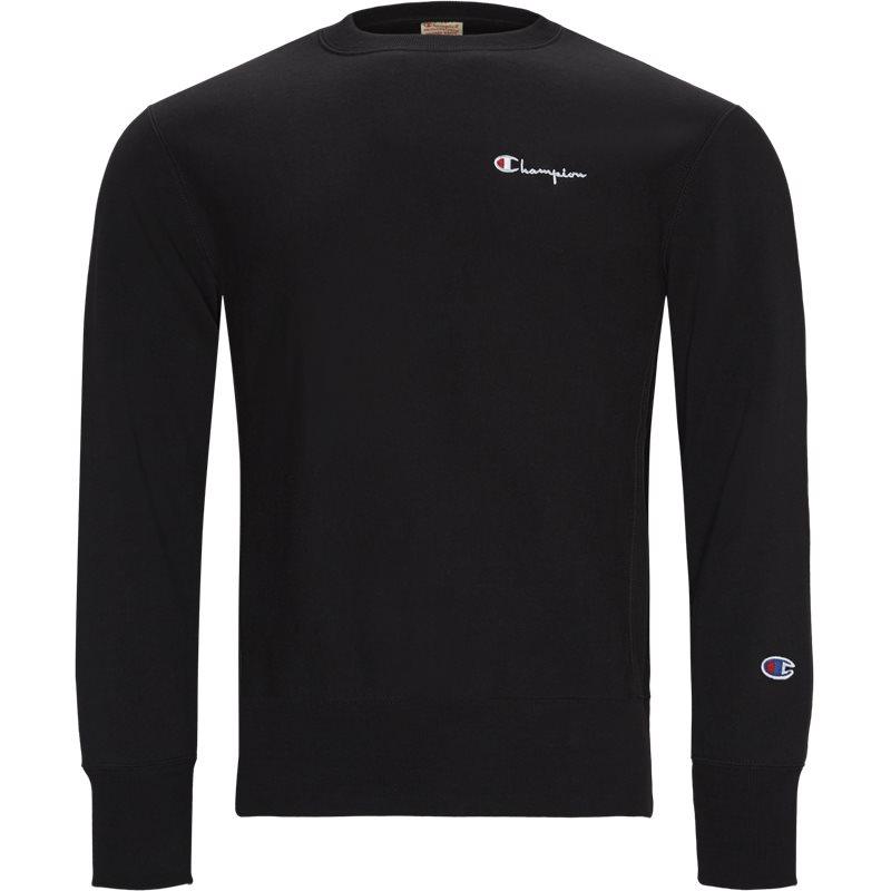 Image of   Champion Small Script Crewneck Sweatshirt Sort