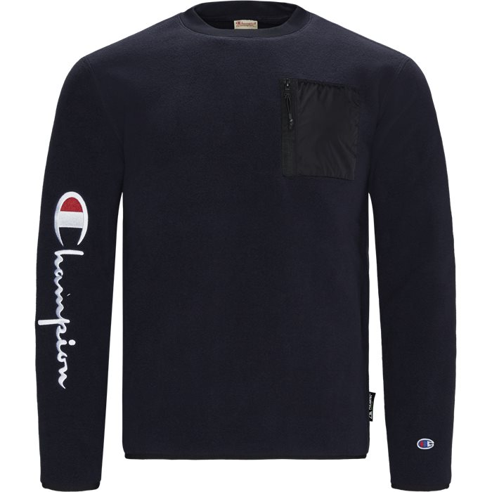 Polar Fleece  Crewneck Sweatshirt - Sweatshirts - Regular - Blå