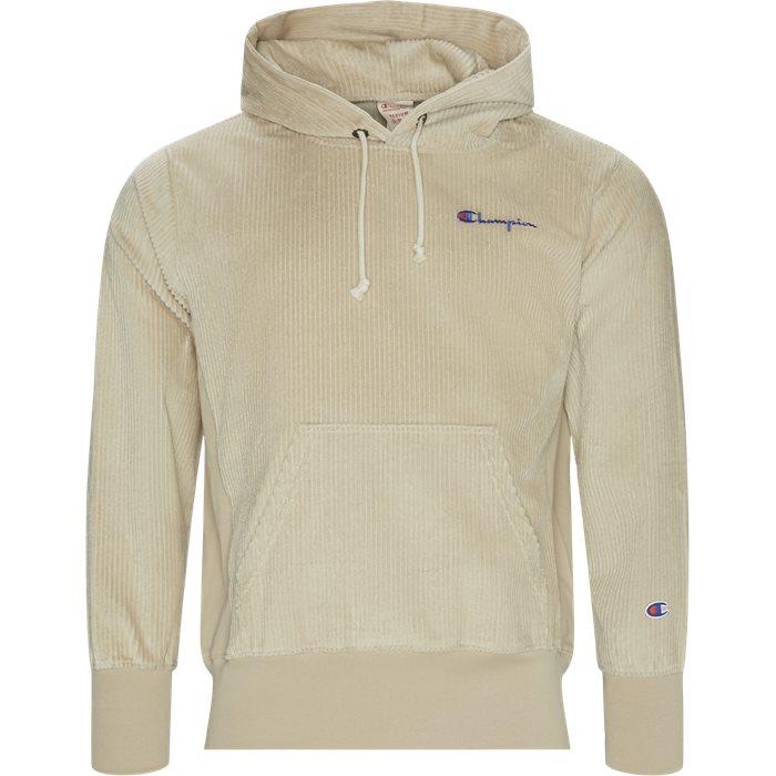 Cordory Hood - Sweatshirts - Regular - Sand