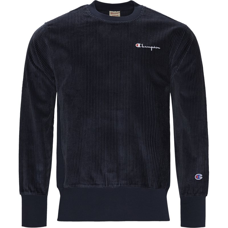 Image of   Champion Cordory Crewneck Sweatshirt Navy