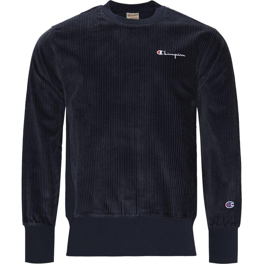 213690 CORDORY CREW - Cordory Crewneck Sweatshirt - Sweatshirts - Regular - NAVY - 1