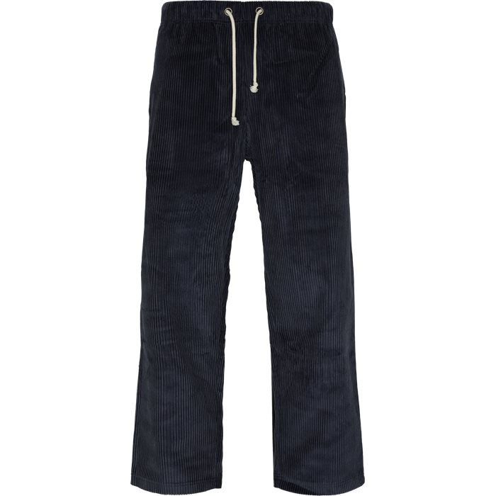 Trousers - Straight fit - Blue