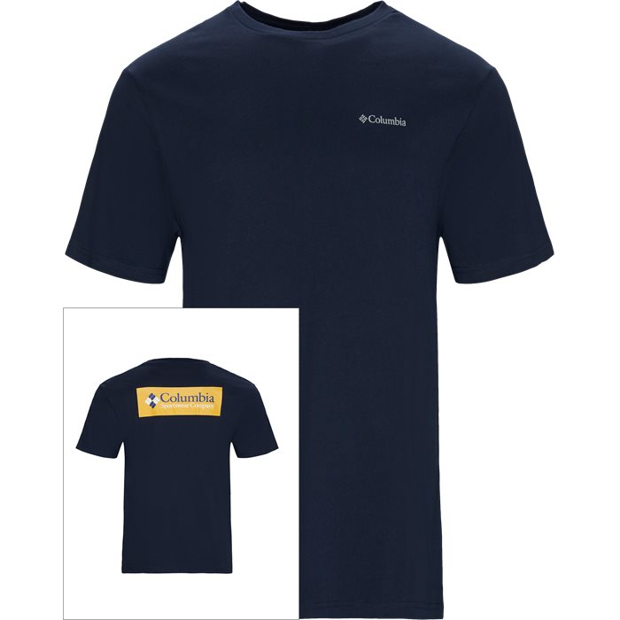 S/S North Box Cascades Tee - T-shirts - Regular - Blå