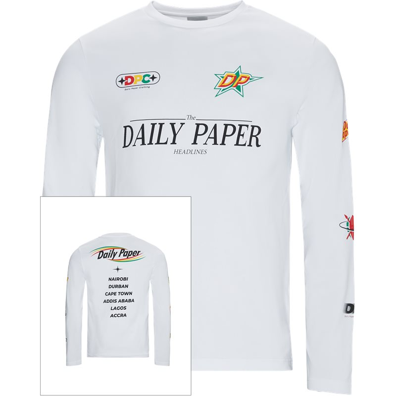 daily paper Daily paper geff ls  19f1ls09-02 t-shirts hvid fra quint.dk